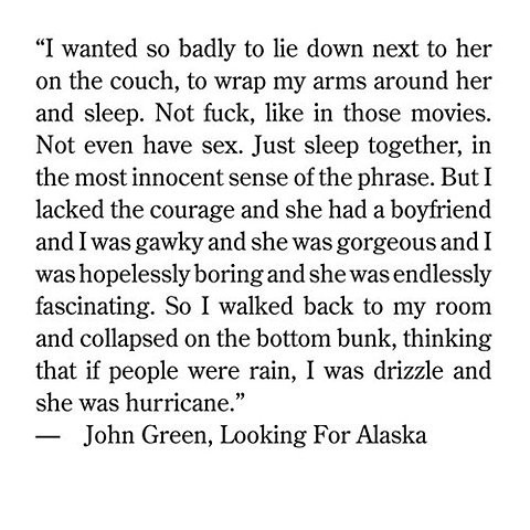 looking for alaska review Booklist online book review: looking for alaskagreen, john (author)mar 2005  240p dutton, hardcover, $1599 (0-525-47506-0) grades 9-12 review.