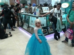 The cutest Elsa I've seen there. I hope she didn't get traumatized from the event.
